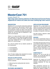 MasterCast - 701 - Multi-Purpose Plasticizer Brochure