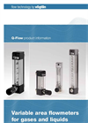 Q-Flow - Variable Area Flowmeters Brochure