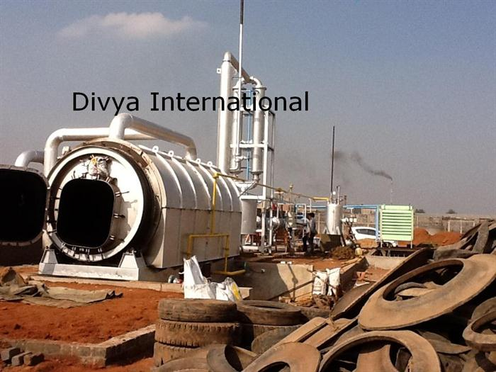 Divya International - DI-12 - Waste Tyre Pyrolysis Plant by Divya