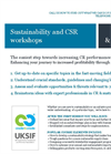 Sustainability and CSR Workshops & Training Brochure