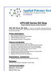 Silt Stop - Model APS 600 Series - Brochure