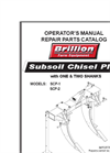 Brillion - Sub Soiler - Manual