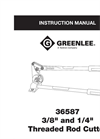 Greenlee - Model 36587 - Threaded Rod Cutter Brochure