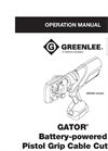 Greenlee - Model ESG105LUB - Bare Tool Brochure