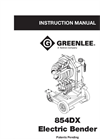 Model 854DX - Electric Conduit Bender Brochure