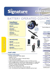 Solo Rain - Model 8020 Series - Battery Operated Controllers - Datasheet
