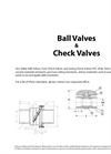 Ball & Check Valves Brochure