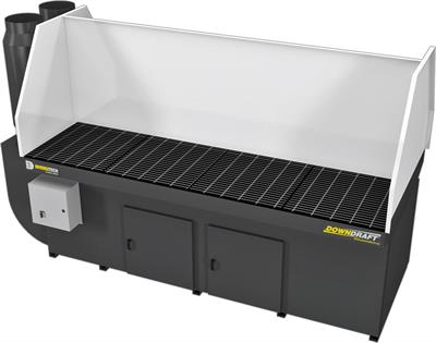 Diversitech - Model DD 4x8 - Dual Operator Self-Contained Rugged Industrial Downdraft Table
