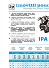 Model IPA 150 - Three Semi-Hydraulic Diaphragm Pump Brochure