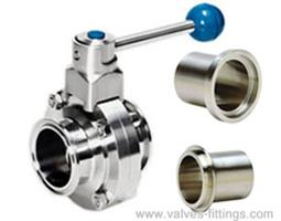 Adamant Valves - Model AV-1MI - Sanitary Manual Butterfly Valves, I Line Ends
