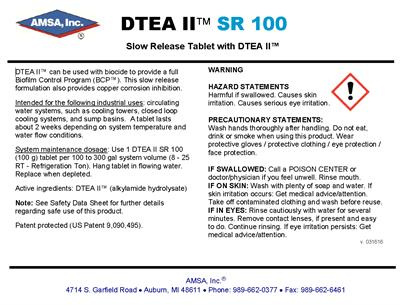 DTEA II™ SR Tablet - Slow Release Tablet with DTEA II™