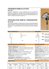 Model TBX series - Stainless Steel Bimetal Thermometers Brochure