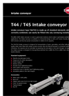 Model T44/T45 - Intake Conveyor Brochure