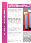 Activated Carbon Filters for Dechlorination and Organics Removal Datasheet