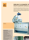 Rotary grain cleaner with aspiration