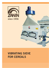Vibrating sieve for grain