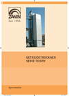 Traditional continuous grain dryer equipped with loading/unloading elevators