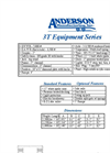 Anderson - Model 3T - Equipment Trailers - Brochure