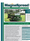 MagnaSpread - Model 00MS08 - Single Axle Fertilizer Lime Spreader Brochure