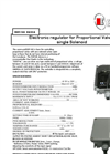 Model REP - 100 EMCSA - Electronic Regulator - Brochure