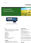 Model PX Combi 821 - Spraying Monitor Brochure
