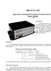 Model NM-251D-INC - Dual Axis Inclinometer Output Format converter Manual