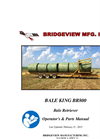 Bale King - Model BR800 - Multi Bale Carrier Brochure