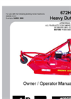 Extra Heavy Duty Brush Cutter  Brown 672HD-D- Brochure