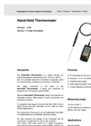 Model E3909 - Hand-Held Thermometer Datasheet