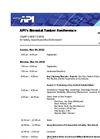 API Tanker Conference 2012 - Preliminary Program