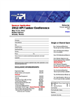 API Tanker Conference 2012 - Sponsorship Agreement and Application