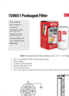 Cim-Tek - Model 72002 - Packaged Filter - Brochure