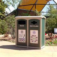 CleanRiver - Model XD - Excel Dome Top Outdoor Recycling Bins