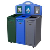 CleanRiver - Model IMSF - Front Loading Indoor Recycling Bins