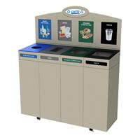 CleanRiver - Model IMST - Small Top Loading Indoor Recycling Bins