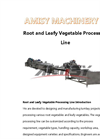 Root and Leafy Vegetable Processing Line