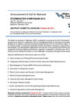 Stormwater Symposium 2012 - Call for Abstracts