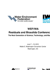WEF/IWA Residuals and Biosolids Conference 2015 - Technical Program