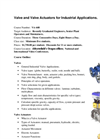 Valves and Controlling Elements for Industrial Applications Technical Training Courses- Brochure