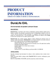 DuraLife - Model EAL - Environmentally Acceptable Lubricant Grease - Brochure