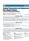 Avoiding Pharmaceutical and Biopharmaceutical Data Integrity Problems- Brochure
