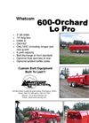Whatcom - Model 600 Lo Pro - Orchard Mulcher Brochure