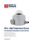 Kipp & Zonen - CM 4 - High Temperature Pyranometer for Measuring Solar Brochure