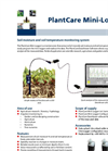 PlantCare - Model Mini-Logger - Soil Moisture and Soil Temperature Monitoring System Brochure