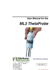 ThetaProbe - Model ML3 - Soil Moisture Measuring Sensor Set Manual