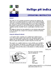 Hellige pH Indicator - Operating Instructions Manual