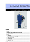 Model 12.14 - Motorized Foot Valve Pump Set Manual