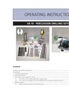 Eijkelkamp  - Percussion Drilling Sets - Manual