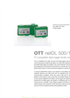 OTT - Model netDL 500 and 1000 - Dataloggers for Remote Data Collection & Long Term Water Level Monitoring - Data Sheet
