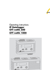 OTT - Model netDL 500 and 1000 - Dataloggers for Remote Data Collection & Long Term Water Level Monitoring - Operating Instructions Manual